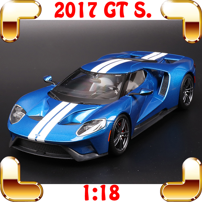 New Arrival Gift 2017 GT 1/18 Metal Model Racing Version Sports Car Collection Diecast Alloy Metallic Present Luxury Vehicle Toy 1 18 diecast model for nissan gtr r 35 2008 blue alloy toy car coupe gt r gt r r35