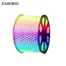 AC220V RGB 5050 LED Strip Flexible Light 60leds/m Waterproof