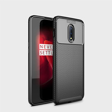 OnePlus 6T Case OnePlus 7 Pro Cover carbon fiber Shockproof soft tpu silicon Back Cover case for One Plus 7Pro 6T 6 T Accessorie