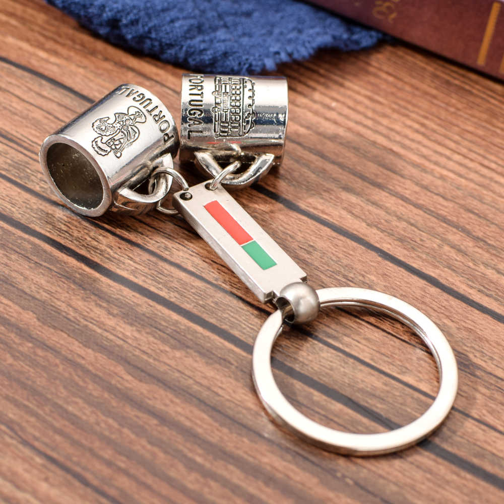 Vicney Новое поступление Пара брелок-чашка Португалия любовник чашка брелок цинковый сплав брелок для ключей