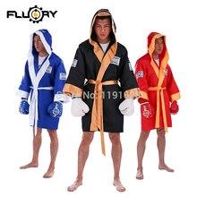 Fluory boxing uniform clothing soft muay thai kick cloak robe