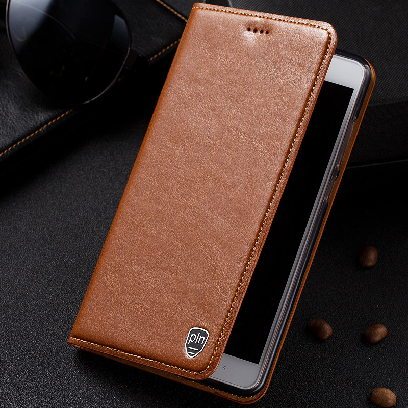 For Xiaomi Redmi Note 4 Case High Quality Genuine Leather Flip Stand Cover Mobile Phone Bag