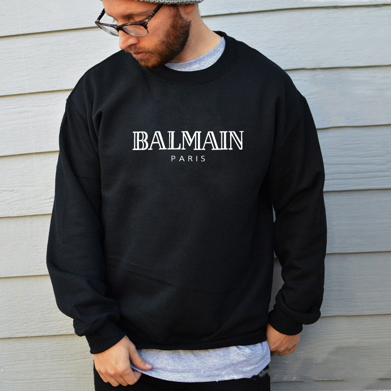New fall/winter 2019 hoodies for men and women, long-sleeved hoodies for men and women balmain(China)