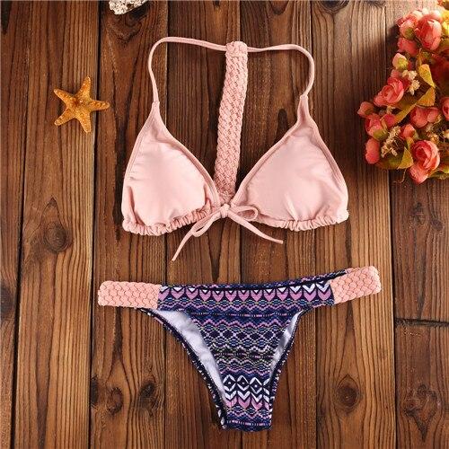 2016 hot sale bikini women swimwear swimsuit  brazilian style drop shipping sexy style pink color