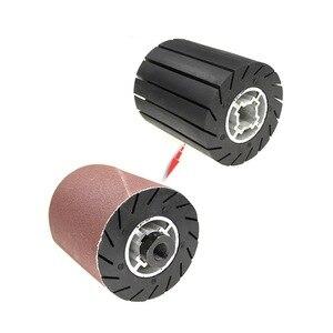 Image 1 - 90*100*19mm גומי תוף ליטוש גלגל רולר + M14 חשמלי מטחנות מתאם + מלטש להקות