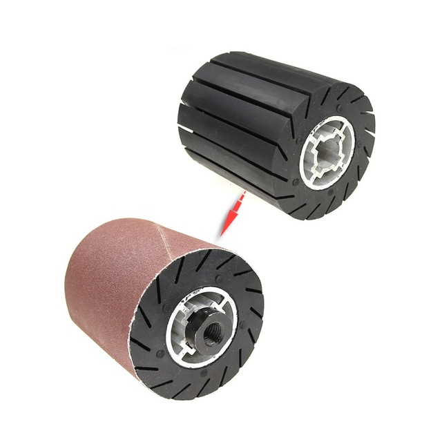 90*100*19mm גומי תוף ליטוש גלגל רולר + M14 חשמלי מטחנות מתאם + מלטש להקות