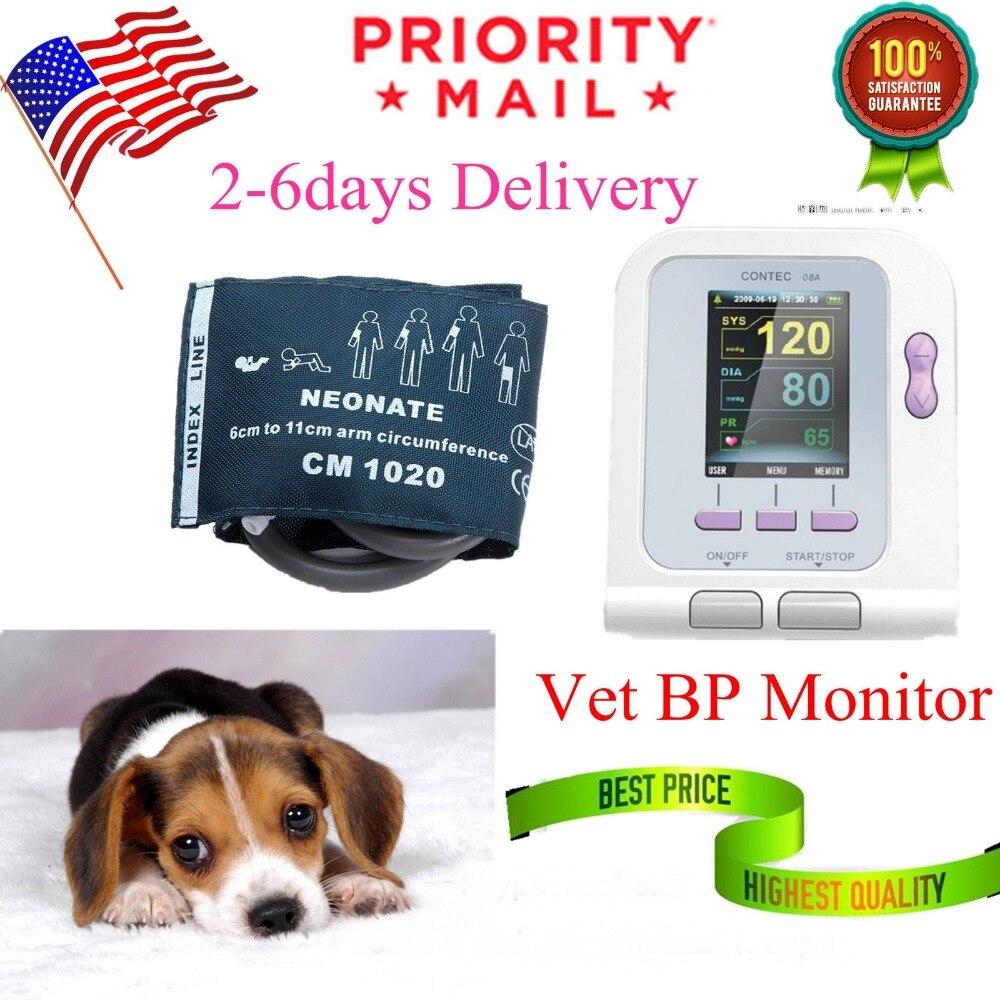 Veterinary Digital Blood Pressure Monitors CONTEC08A,Oximeter vet,SpO2 Probe, digital veterinary nibp blood pressure monitor with spo2 probe for vet contec08a