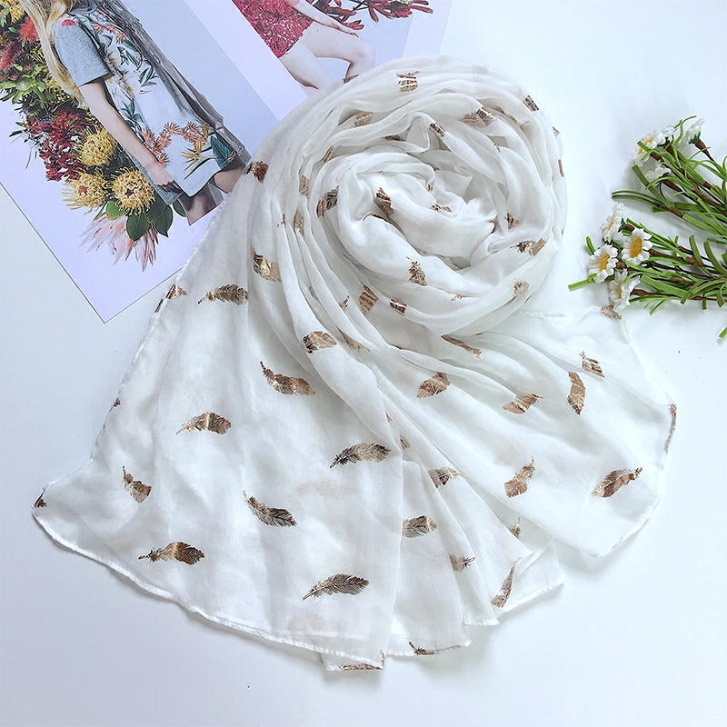 Long White Scarves
