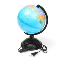 Excellent LED World Map World Globe Rotating Swivel Map Of Earth Geography Globe Figurines Ornaments Birthday