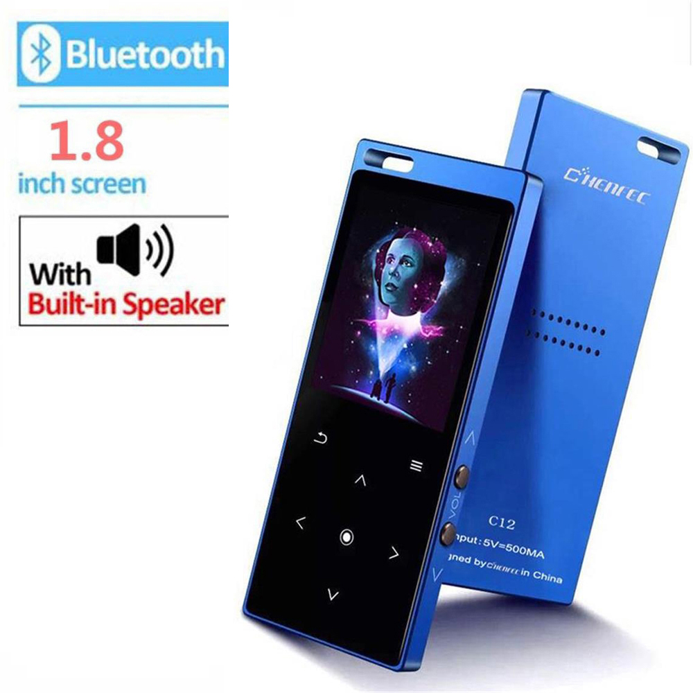 MP3 Player Bluetooth With Speaker 8GB/16GB Touch Key Support 64GB TF Card APE/AAC/FLAC/OGG/WMA FM Radio Ebook Video Music Player