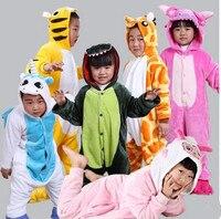 Kids Fleece Stitch Spider Man Tiger Pikachu Pajamas Unisex Cosplay Animal Costume Onesie Sleepwear