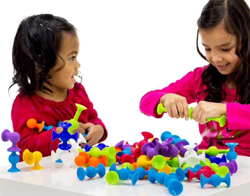 New Soft Building Blocks kids DIY Pop squigz sucker Funny Silicone block Model Construction Toys Creative Gifts For Children Boy