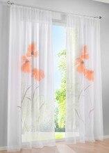 Venta caliente Manual Aerosol Pintado de Flores Ventana de Cortinas para la Sala de estar Dormitorio Ventana Persianas Pura
