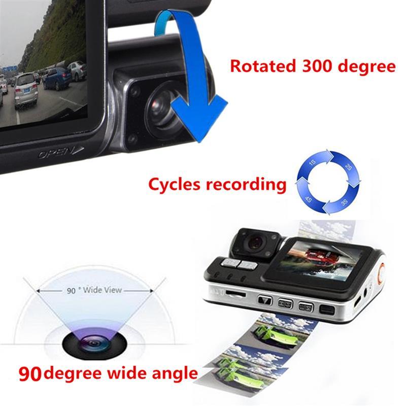 HD 1080P 2.0 Inch Car DVR Video Dash Camera Registrator With IR Night Vision DVR Video Recorder USB G-sensor 170 Degrees 5