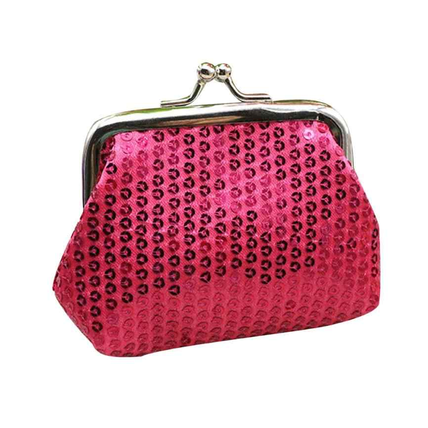 ISHOWTIENDA Womens Nhỏ Sequin Wallet Card Holder Coin Purse Clutch Túi Xách Bag bolsa feminina # 4A
