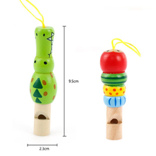 1Pcs Wooden Toys Musical Instrument Trumpet Whistle Random Color Learning & Education Toys Gifts For Children Kids Baby