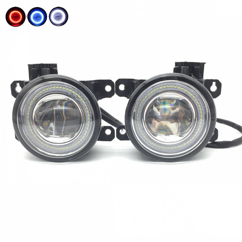 Car Styling 2in1 LED Angel Eyes DRL Cut-Line Lens Fog Light for Citroen C3 C4 C5 C6 C-Crosser Berlingo DS3 DS4 DS5 Xsara Picasso car styling 2 in 1 led angel eyes drl daytime running lights cut line lens fog lamp for land rover freelander lr2 2007 2014