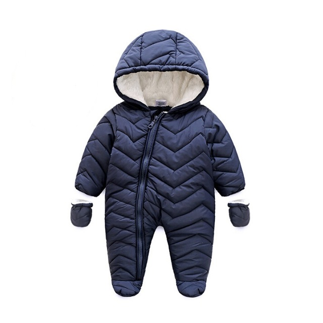 88dfffcbe43c 2017 baby winter clothes cotton thick warm Hooded baby jumpsuits ...