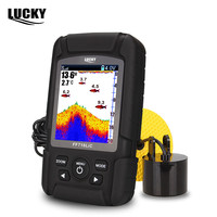 LUCKY FF718LiCD T 2 8 Color LCD Portable Fish Finder 200KHz 83KHz Dual Sonar Frequency 328ft