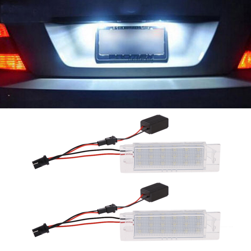 LED License Plate Lights for Vauxhall Opel Astra H J Corsa C D Insignia Tigra B Twintop Vectra C Zafira B OPC 18 smd led number license plate light module for opel vauxhall astra j sports tourer estate zafira tourer c