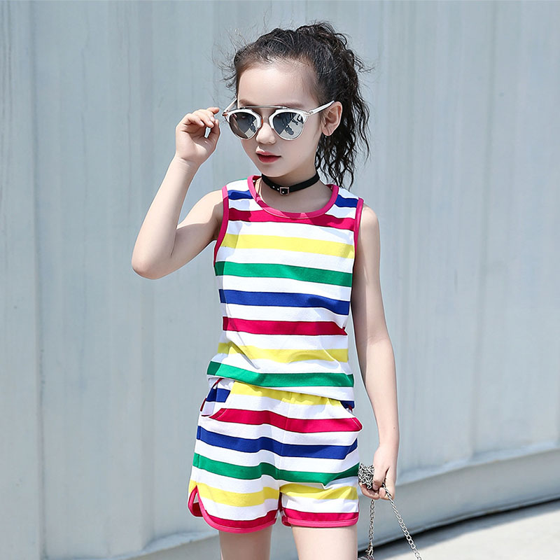 Girls Suit 2019 Summer Girl Clothing Set Kids Short Sleeve Shirt Top Shorts 2pcs Sport Suits Girls Clothes 4 6 8 10 12 13 Years Clothing Sets Aliexpress