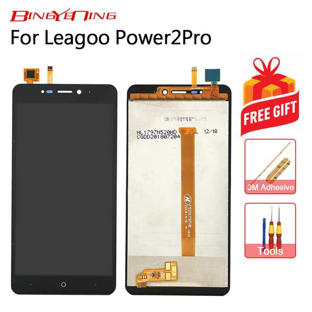 BingYeNing New Original For Leagoo Power 2 Pro Touch Screen+ LCD Display Assembly Replacement