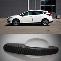 Neue Auto Außen Carbon Fiber Made Türgriff Abdeckung Aufkleber Dekorationen Overlay Trim Für Ford Serie-in Türaußengriffen aus Kraftfahrzeuge und Motorräder bei