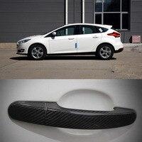 New Auto Exterior Carbon Fiber Made Door Handle Cover Sticker Decorations Overlay Trim For Ford Series Exterior Door Handles Automobiles & Motorcycles -