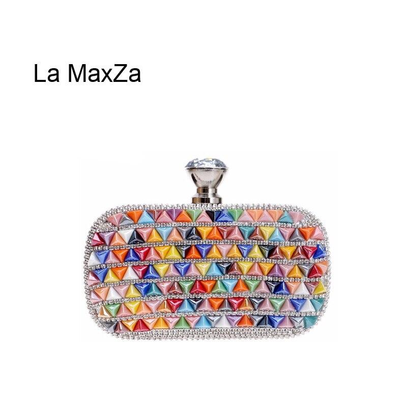 La MaxZa cristal jour embrayage sac de fête Top vente dames sac de soirée sac à main fête Banquet sac femmes diamant strass embrayage