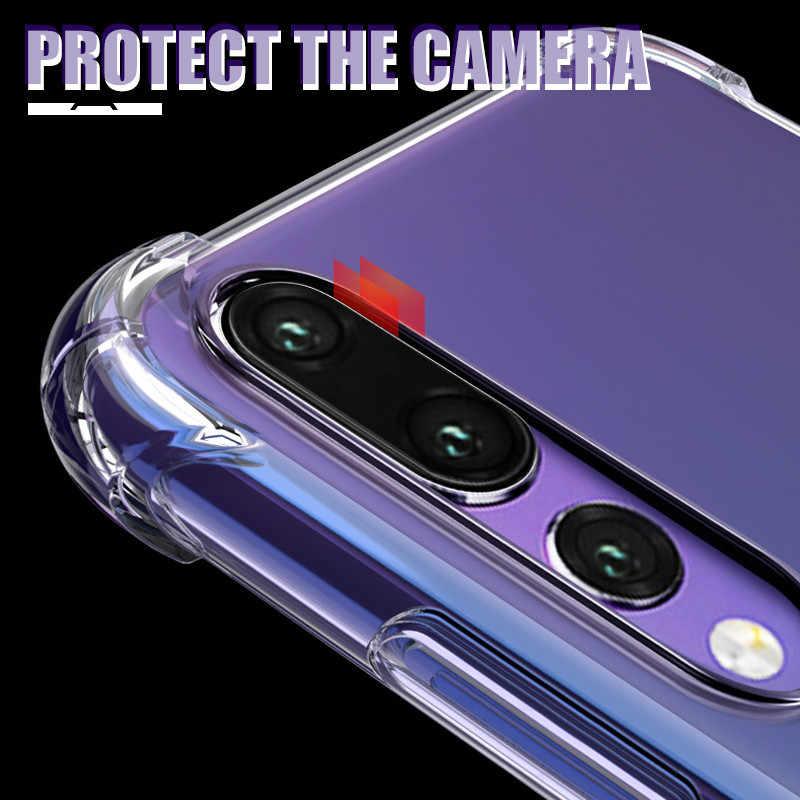 Ударопрочный Мягкий чехол для huawei P30 Pro P20 Lite Nova 3 3e 3i 4 4e 5 5i Y5 Y6 Y7 Y9 Prime 2018 2019 прозрачный защитный чехол, корпус