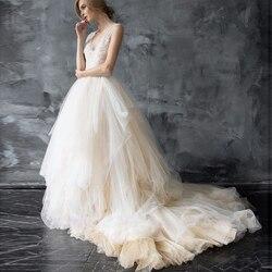 Великолепная мягкая Тюлевая юбка для свадьбы, на заказ, бальное платье, Тюлевая юбка для невесты с коротким шлейфом, раздельная фотосъемка