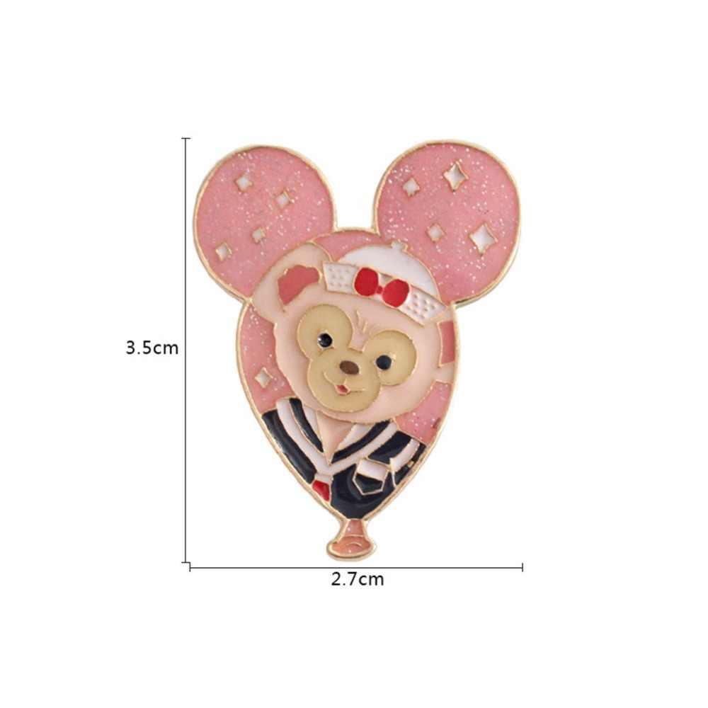 Frete grátis animais broches desenhos animados bonito macaco urso esquilo balão de metal esmalte pino broche para mulher jóias #278530