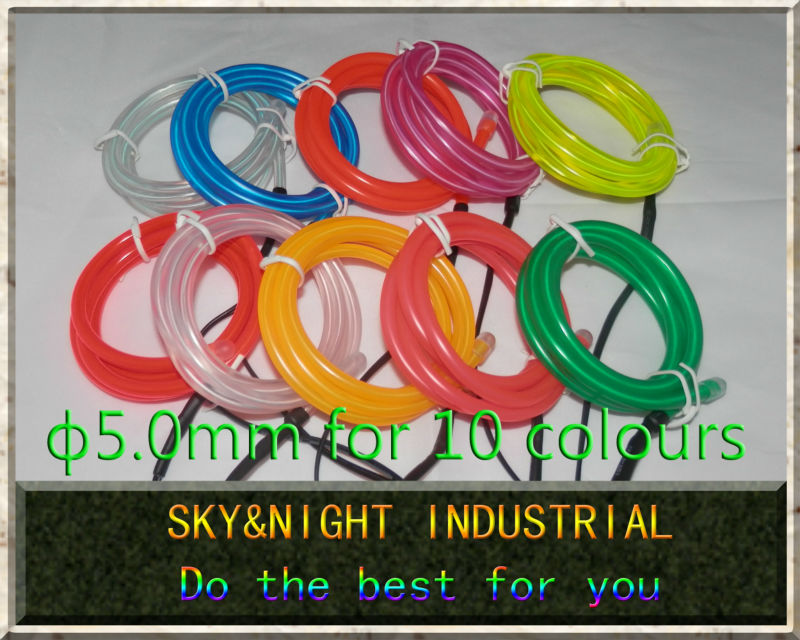 High brightness 20M Lot 5 0mm Neon light font b EL b font Wire font b