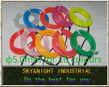High brightness-20M/Lot-5.0mm Neon light / EL Wire/Led Flexible Light (Ten colors option) with Free shipping