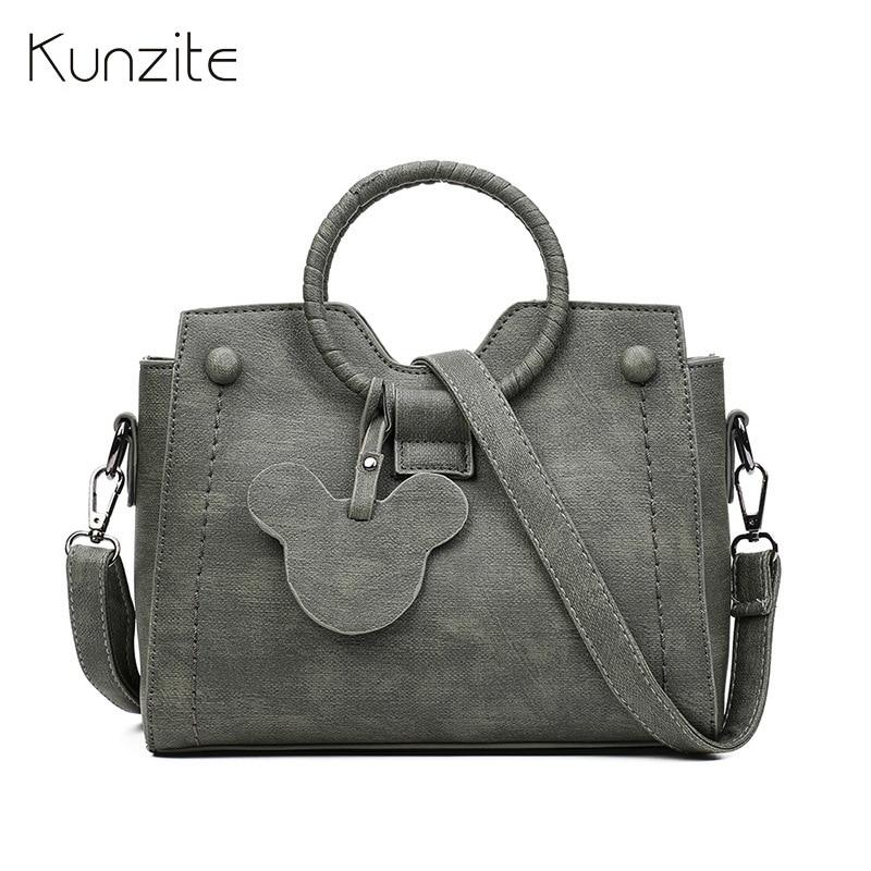 Kunzite marca Nuevo 2018 mujeres mano Bolsas principal Bolsos Crossbody diseñador mano Bolsas aleta de la PU de la alta calidad bolsos mujer caliente