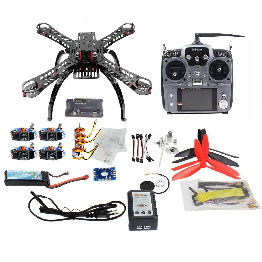 310 mm Carbon Fiber Frame DIY GPS Drone FPV Multicopter Kit Radiolink AT10 2.4G Transmitter APM2.8 1400KV Motor 30A ESC F14891-D