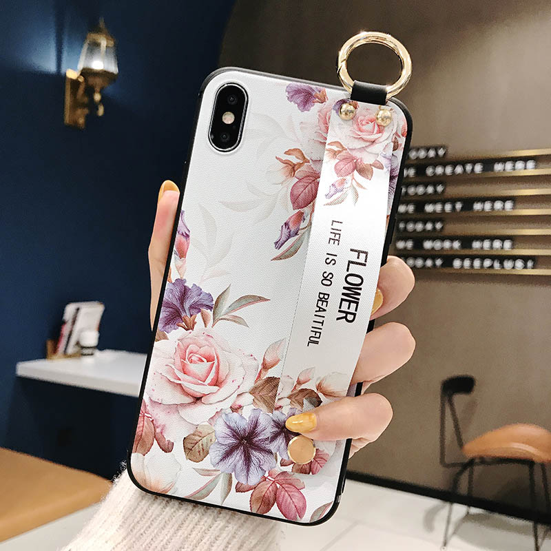 Words Case with Strap for Xiaomi 6x 5x mi 8 9 Full Cover Case for Redmi Note 5 5A 4X Note 6 7 K20 K20 Pro Back Cover 3D Relief in Fitted Cases from Cellphones Telecommunications