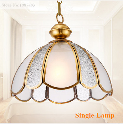 ФОТО Mordern brief copper&frosted glass Pendant lights Handwork soldering E27 LED single lamps lights for pavilion&stairs BRSDD011