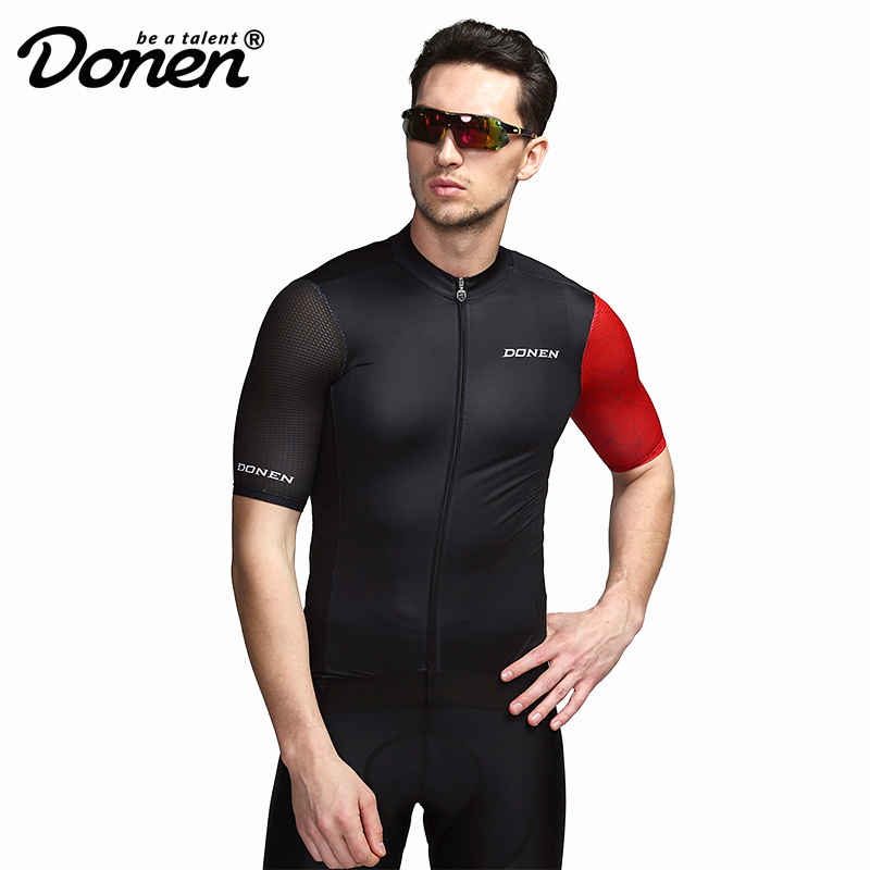 DONEN 2019 Summer Cycling Jersey Breathale Mountain Bike Clothing Quick Dry Racing MTB Bicycle Clothes Uniform