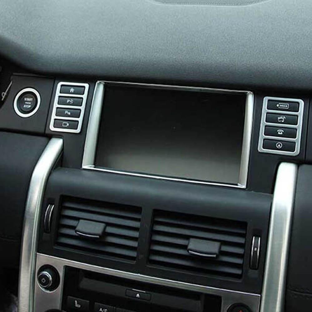 Мультимедиа Экран многофункциональный ручка кнопка dcorative крышка Стикеры для Диапазон Land Rover Discovery интерьера Спорт Интимные аксессуары