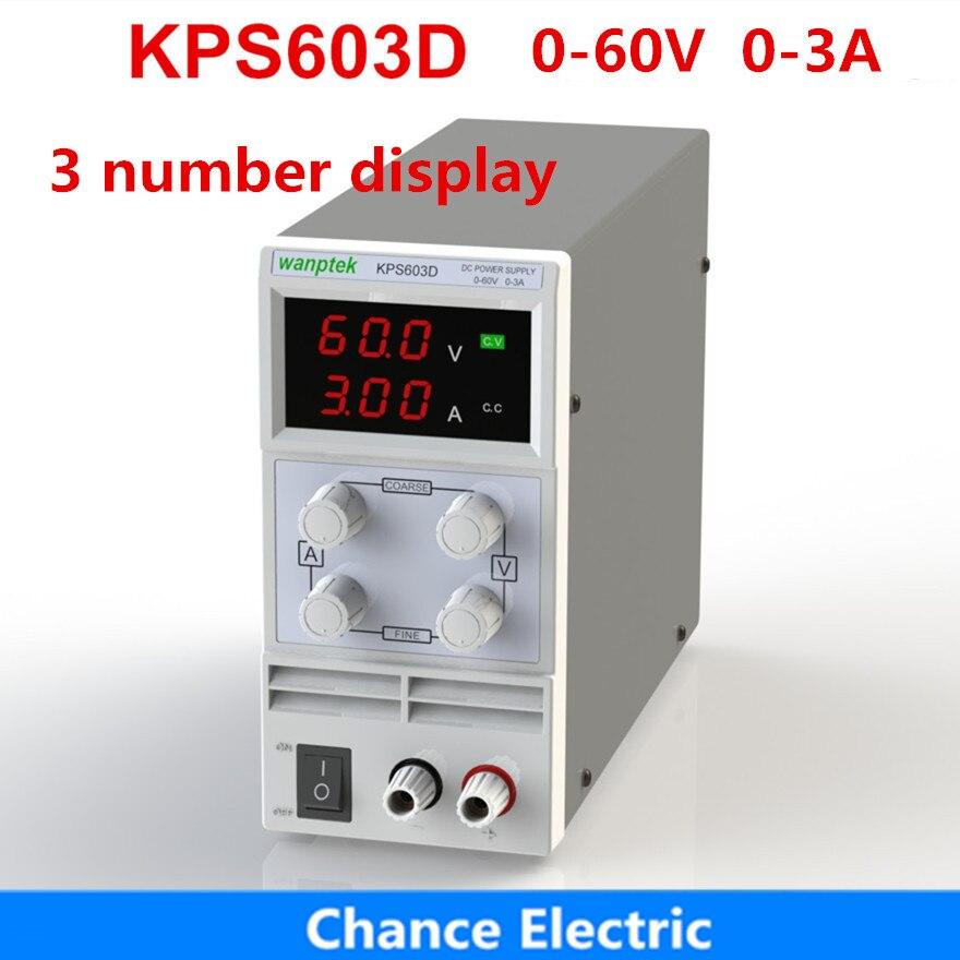 Régulateurs de tension KPS603D 60 V 3A 3 affichage numérique réglable Mini commutateur laboratoire DC alimentation