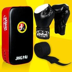 MMA Luvas de Boxe + alvo + mão envolve um conjunto de Homens/Mulheres Saco De Areia/Taekwondo/Muay Thai/ luta/Boxe De Luva Treinamento de Equipamentos Desportivos