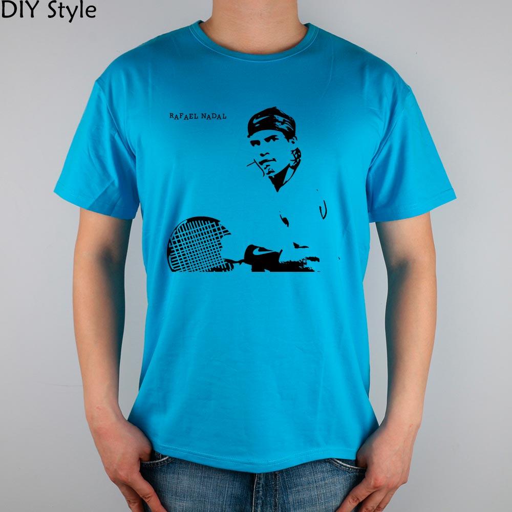 RAFAEL NADAL T-shirt Top de Lycra de Algodão de manga curta camisa Dos Homens T Novo Estilo DIY