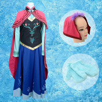 Fatasia Anna Dress Adult Princess Costume Snow Queen Cosplay Clothes Halloween Children Costumes For Girls Kids