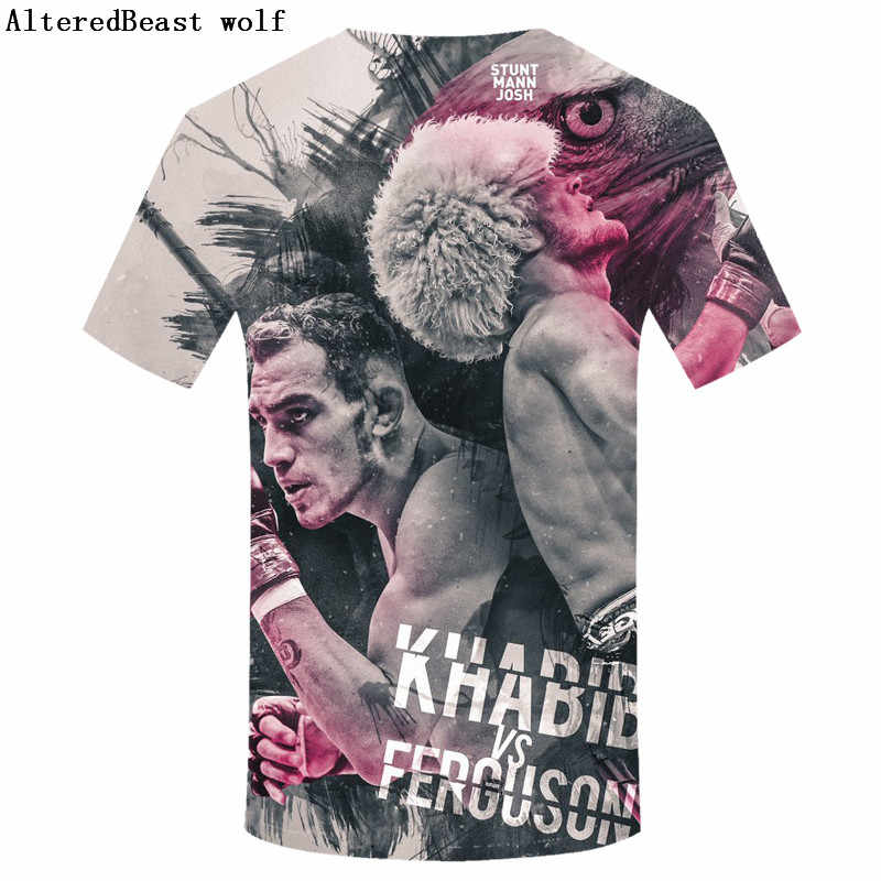 Новая 3D мужская футболка Хабиб нурмагомедов дизайн модные мужские футболки Хабиб нурмаго 3D Повседневные хипстерские крутые Топы европейский размер S-3XL