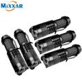 ZK50 5 pcs/lot CREE Q5 Mini 2000LM Black LED Flashlight 3 Modes Adjustable LED Lantern Torch penlight waterproof