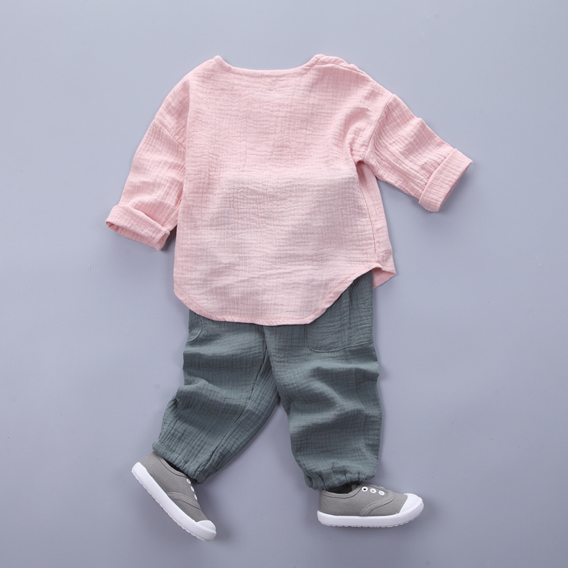 HTB1qaOgSXXXXXXWXVXXq6xXFXXX2 - Infantis Childrens spring autumn summer cotton Boys tops tees long sleeve t shirt +bind pants 2pc/set ,kids Clothes 0-5Year