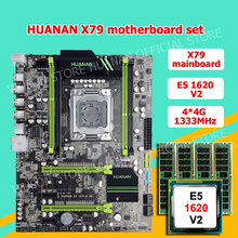 HUANAN V2.49 X79 motherboard CPU RAM combos Xeon E5 1620 V2 CPU (4*4G)16G DDR3 RECC memorry all good tested 2 years warranty
