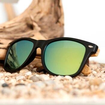 BOBO BIRD Square Vintage Sunglasses Men Women Wood Sun Glasses Retro Polarized oculos Brand 6