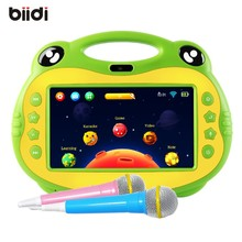 Android 7 inch tablet Kids karaoke machine 2 Microphone HDMI jack free download APP Children learning tablet